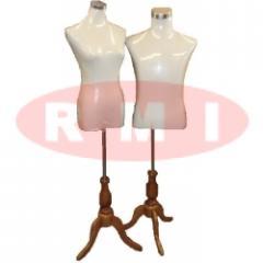 Half Body Mannequin - Wood Leg