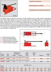 HP - Manually operated pumps - high flow
