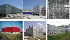 Hot-Dipped Galvanised Tanks