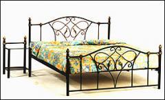 Metal Floral Bed