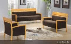 Wooden Frame Sofa Set 318