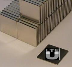 Ni Coated Ndfeb Square Magnet 10x10x1mm