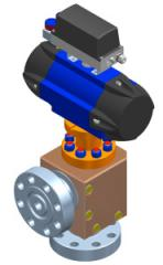 Duxvalves angle type choke control valve