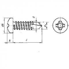 Pan Head Philips Self Drilling Screw , Din 7504-M or Din 7504-N