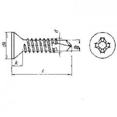 CSK Philips Self Drilling Screw (Tek Screw) , Din