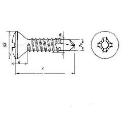 Raised CSK or Oval Head Philips Self Drilling Screw , Din7504-R or Din7504-Q