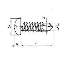 IFI/ANSI , CSK Self Drilling Screw (Tek Screw), Type BSD