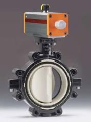 Pneumatically Actuated Butterfly Valve Type