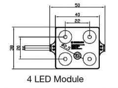 Mini 4 led module
