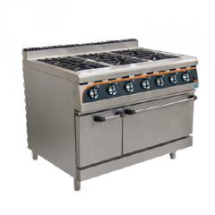 Electric Oven with 6 Gas Stove Plates