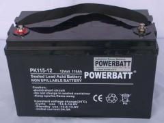 115Ah 12V Rechargeable VRLA Sealed Lead Acid Battery