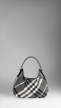 Burberry Beat Check Hobo Bag