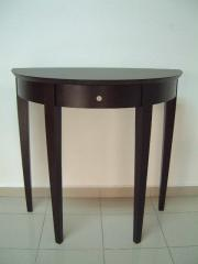Orio Half Moon Table With Drawer