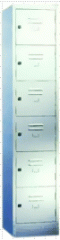 Six Compartment Metal Locker