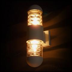 Double Grey Outdoor Wall Light
