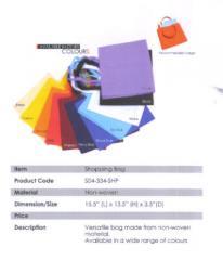 Shopping Bag / Non-woven / Purple, Black, White, Sky Blue, Royal