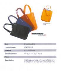 Shopping Bag / Polyester / Black, Navy Blue, Dk Red, Orange