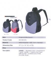 Backpack Bag / Polyester / Grey, Red