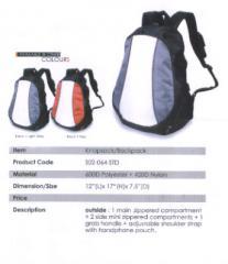 Backpack Bag / Polyester / Lt Grey, Red