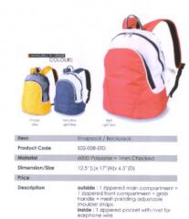 Backpack Bag / Polyester / Orange, Navy Blue, Red
