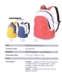 Backpack Bag / Polyester / Orange, Navy Blue, Red