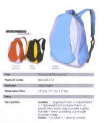 Backpack Bag 2 / Nylon / Red, Gray, Orange, Black, Sky Blue