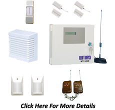 GSM wired home alarm system