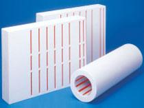 Insulation panels with built-in heaters used in