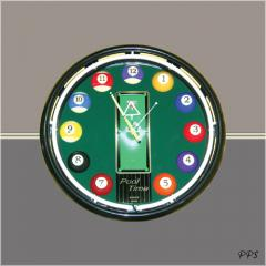 """16 """""""" Neon Wall Clock(with"""