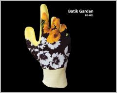 Silk Cotton Glove With Natural Rubber Foam Coated