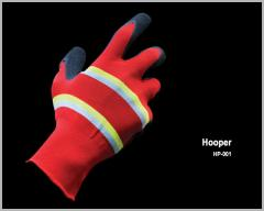 Nylon Seamless Knitted With Natural Latex Foam Coated Glove