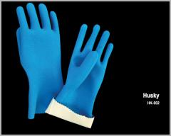 Cotton Interlock Liner With Natural Latex Full Dipped Glove