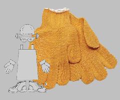 Hvy Wt, Orange Criss-cross, Nylon gloves