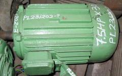 Used 7.5 HP x 3000 rpm Electric Motor