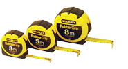 Stanley 30-615L Tape Rules Rubber Grip 3.5m 12ft