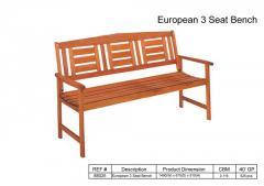 European 3 Seat Bench