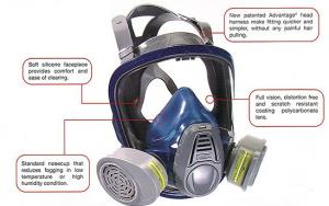 Full- Face Respirator, MSA Advantage 3000