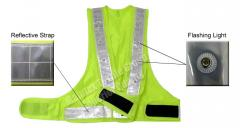 Safety Vest With Red Flashing Light