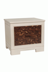 Bedside Table with Coconut Sherll Inlay