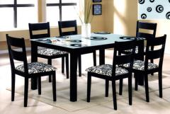 Dining Set with glass top Table