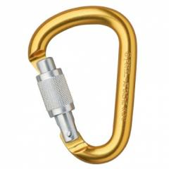 Compact pear-shaped carabiner