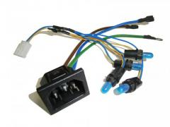 Switch and socket assembly harness