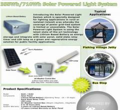 Solar Power Street Light System