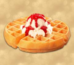Waffle with Ice Cream (single scoop)