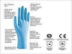 Nitrile Sterile Examination Gloves