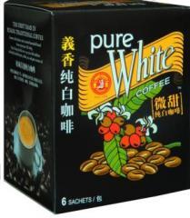 Pure White Coffee-Less Sugar