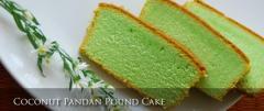 Coconut Pandan Pound Cake