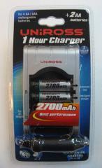 UNIROSS 1 Hour charger batteries
