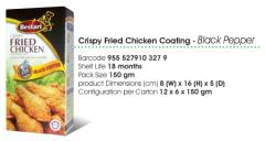 Crispy fried Chicken Coatings Black Papper