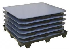 Polyethylene plastic separator sheets
